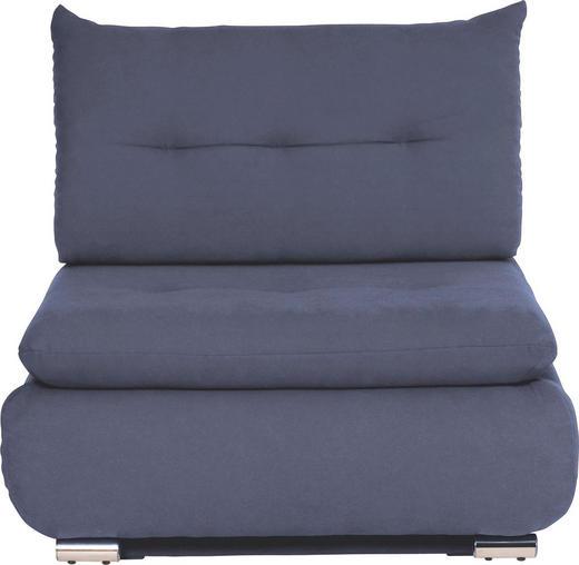 SCHLAFSESSEL Blau - Blau/Chromfarben, Design, Textil/Metall (94/86/83cm) - NOVEL