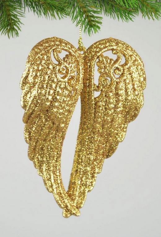 CHRISTBAUMANHÄNGER  Goldfarben - Goldfarben, Kunststoff (14/11/3cm)
