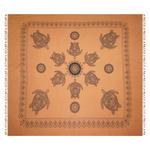 STRANDTUCH 210/220 cm  - Terra cotta/Schwarz, KONVENTIONELL, Textil (210/220cm) - Esposa