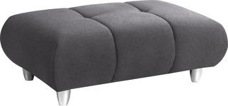 HOCKER in Textil Grau - Chromfarben/Grau, Design, Kunststoff/Textil (125/40/75cm) - Hom`in