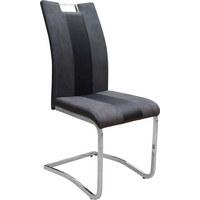 SCHWINGSTUHL Lederlook, Mikrofaser Chromfarben, Grau - Chromfarben/Grau, Design, Textil/Metall (42,50/99,50/56cm) - CARRYHOME