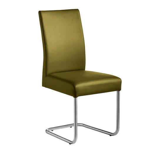 SCHWINGSTUHL Webstoff Edelstahlfarben, Limette - Edelstahlfarben/Limette, Design, Textil/Metall (48/99/69cm) - Valnatura