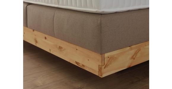 BOXSPRINGBETT 180/200 cm  INKL. Matratze, Topper  - Beige, KONVENTIONELL, Holz/Textil (180/200cm) - Valnatura