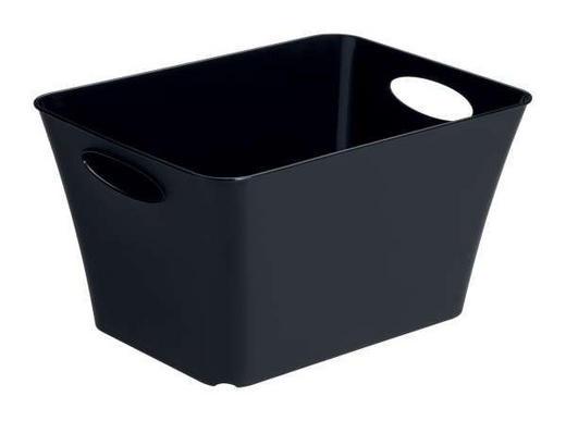 BOX Kunststoff Schwarz - Schwarz, Basics, Kunststoff (35.5/26/19.2cm)