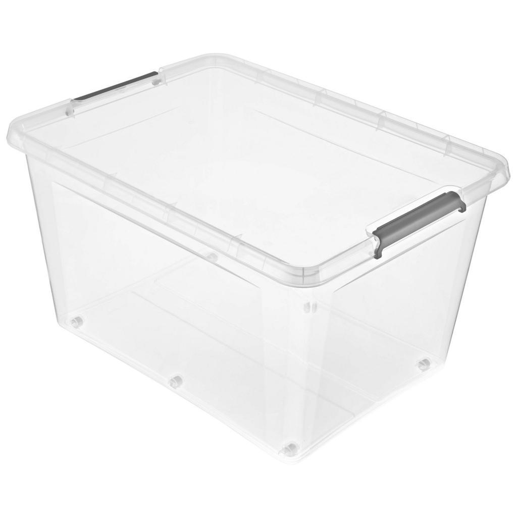 Image of Homeware Box mit deckel 76/57/42 cm , 1104800100000 , Transparent , Kunststoff , 1 Fächer , 57x42 cm , glänzend , Deckel, Rollen, rollbar, Deckel abnehmbar, Sichtfenster, stapelbar , 003556015506