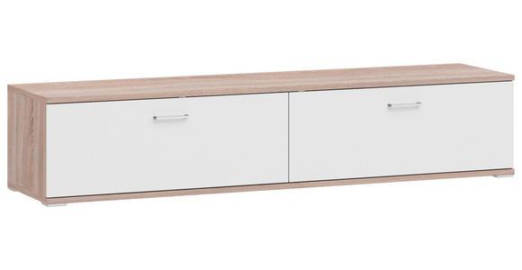 LOWBOARD 200/41,2/49 cm  - Eichefarben/Alufarben, Design, Holzwerkstoff/Metall (200/41,2/49cm) - Xora