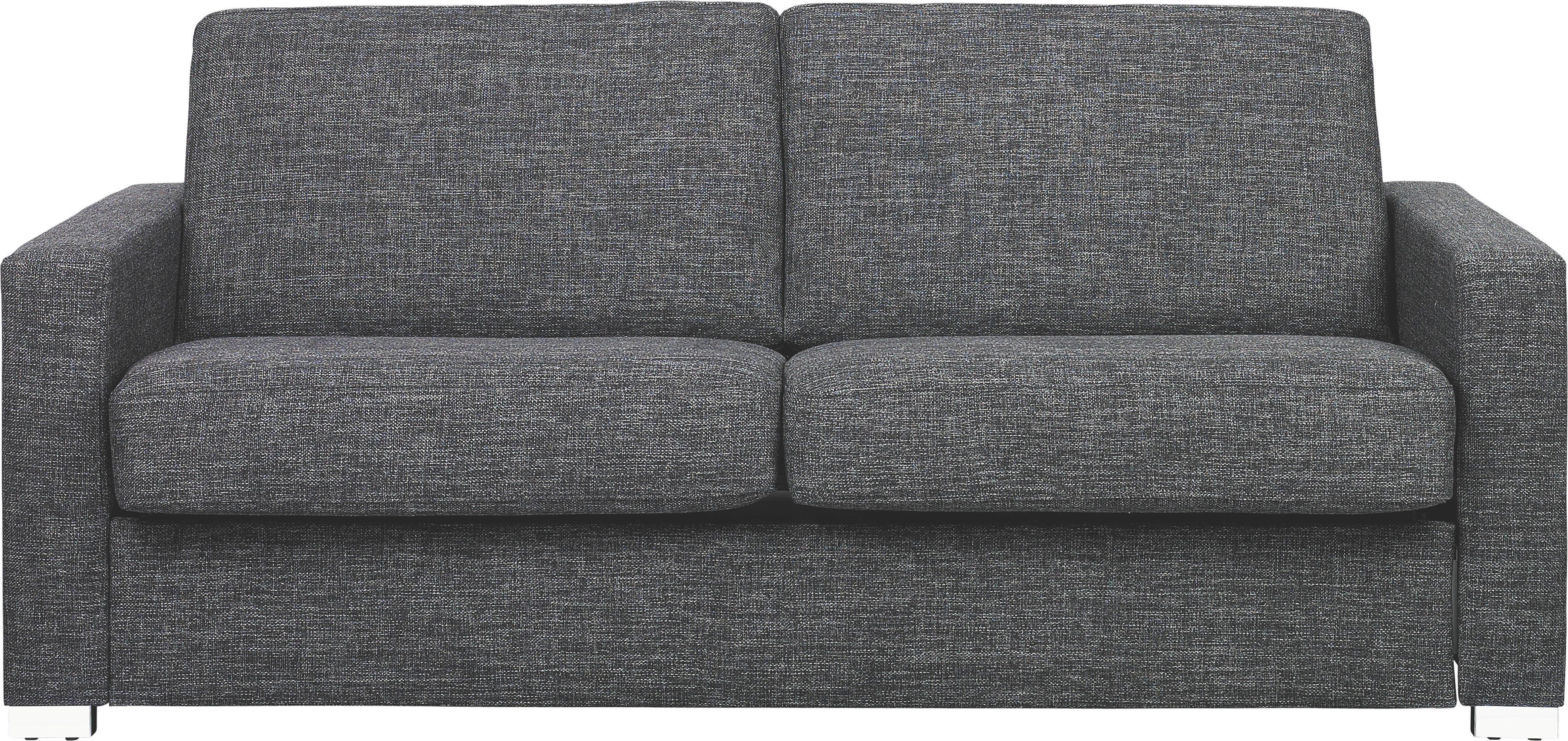 SCHLAFSOFA   Chromfarben/Anthrazit, KONVENTIONELL, Textil/Metall (188/86/