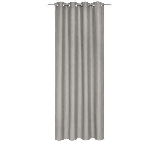 ZÁVĚS HOTOVÝ, neprůsvitné, 135/245 cm - šedá, Konvenční, textil (135/245cm) - Esposa