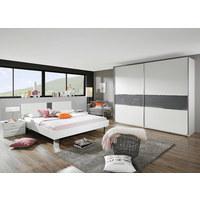SCHLAFZIMMER In Dunkelgrau, Weiß   Dunkelgrau/Weiß, Design,  Glas/Holzwerkstoff (