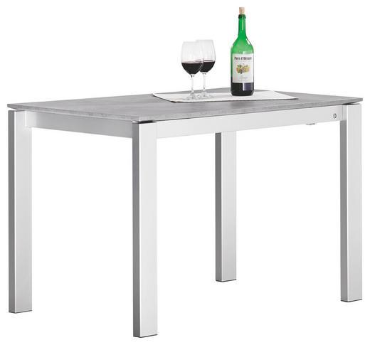 ESSTISCH rechteckig Grau - Grau, Design, Metall (110(155)/70/75cm)
