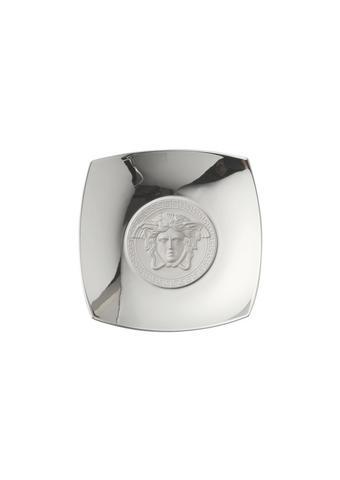 OKRASNA SKLEDA MEDUSA - srebrna, Konvencionalno, keramika (23,7/23,7/4,2cm) - Versace