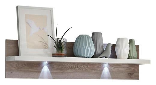 WANDBOARD Eichefarben, Weiß - Eichefarben/Weiß, Design (133/32/20cm) - Xora
