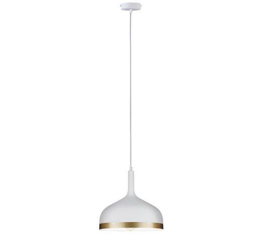 LED-HÄNGELEUCHTE - Goldfarben/Weiß, Design, Metall (15cm)
