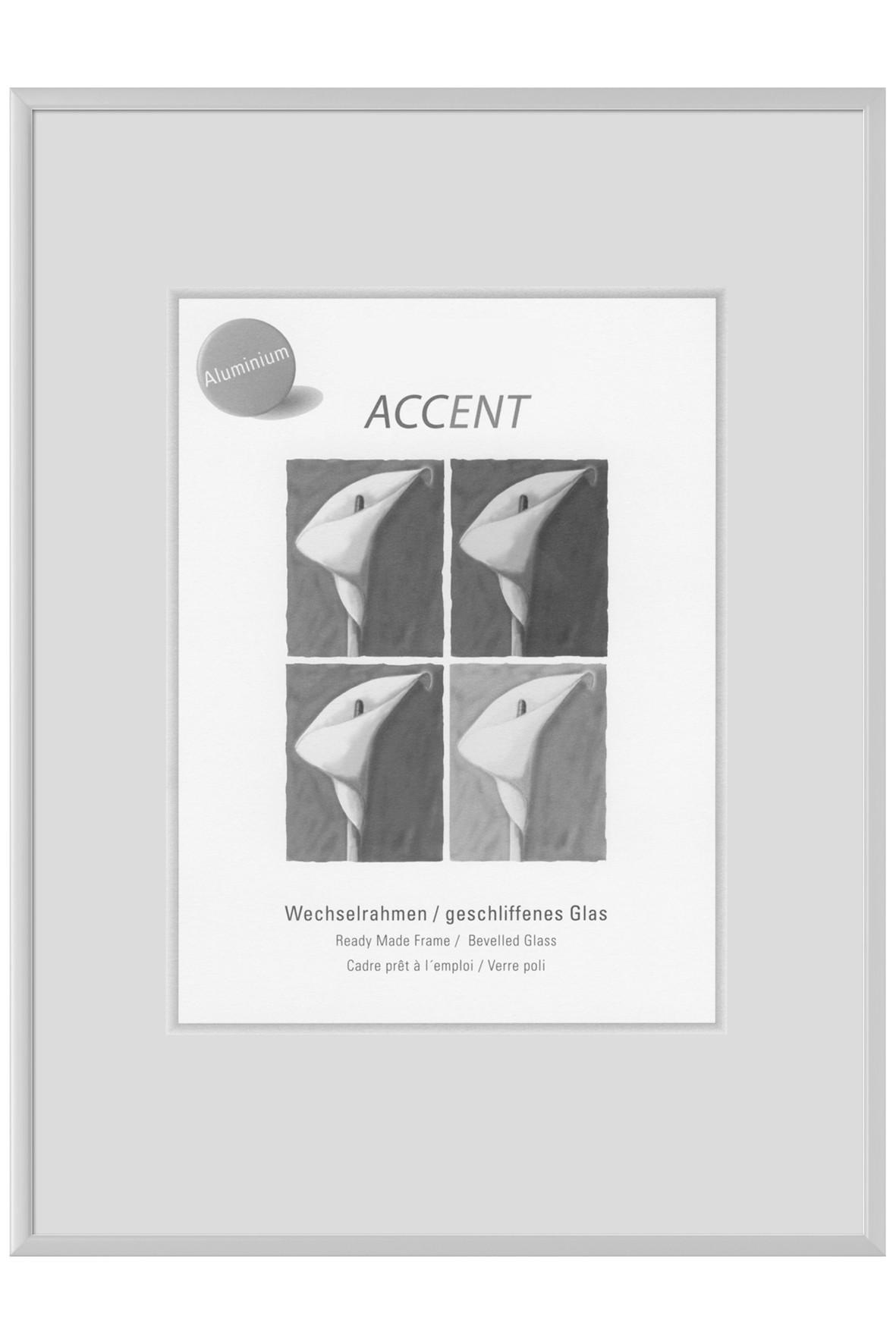 BILDERRAHMEN in Silberfarben - Silberfarben, Metall (31.5/41.5cm)