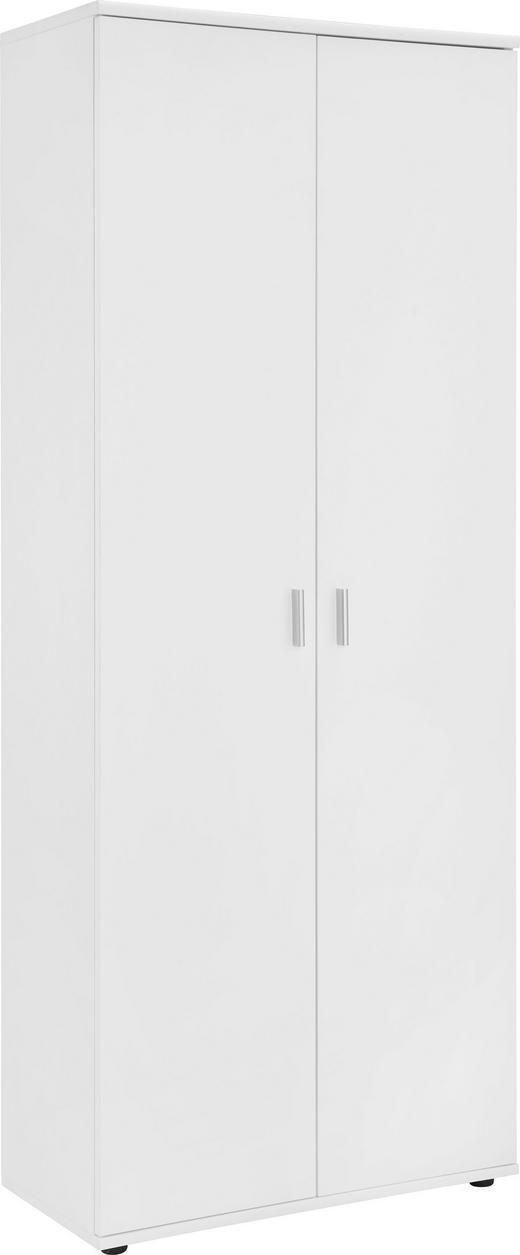 SCHUHSCHRANK - Silberfarben/Weiß, Design, Holzwerkstoff/Kunststoff (69/176/34cm)