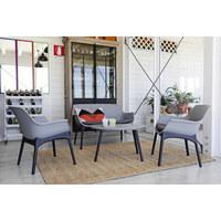 LOUNGEGARNITUR 7-teilig - Schwarz/Grau, Design, Kunststoff/Textil - Ambia Garden
