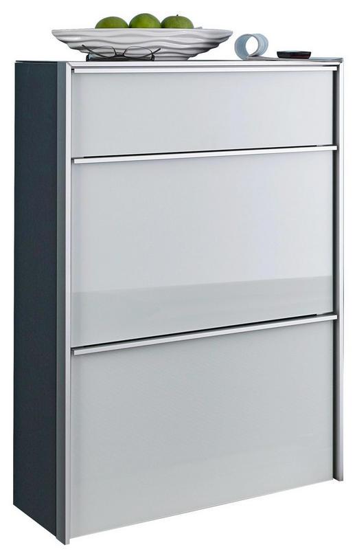 SCHUHKIPPER Alufarben, Schwarz, Weiß - Alufarben/Schwarz, Design, Glas/Metall (63/98/33,5cm) - Dieter Knoll
