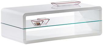 COUCHTISCH rechteckig Weiß  - Weiß, Design (120/60/41cm) - Xora