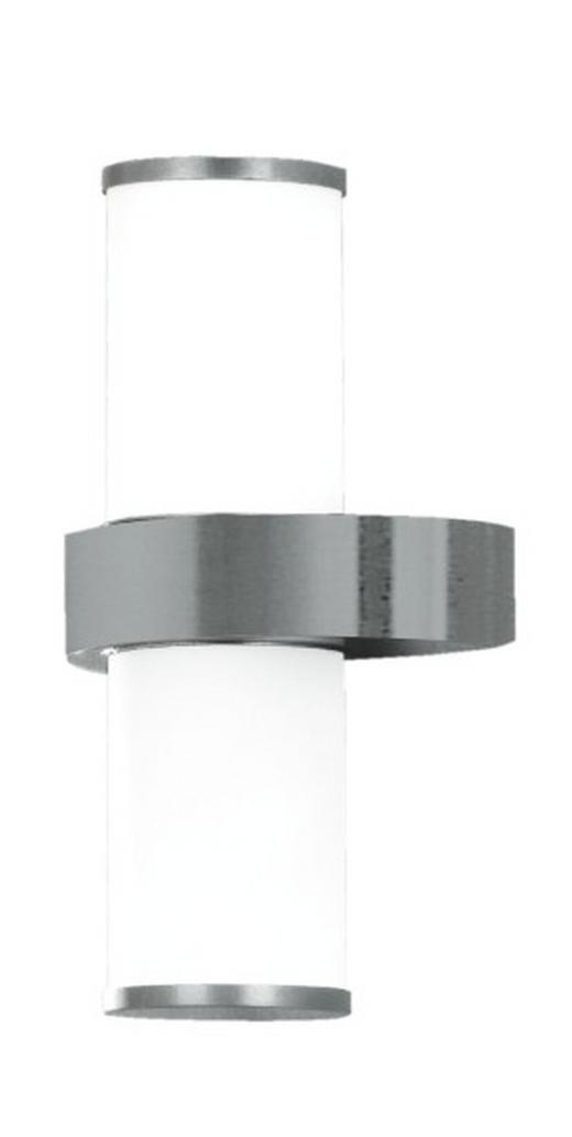 AUßENWANDLEUCHTE Edelstahlfarben, Silberfarben - Edelstahlfarben/Silberfarben, Basics, Glas/Metall (35cm)