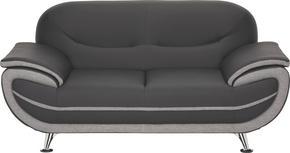2-SITS SOFFA - kromfärg/grå, Design, metall/textil (175/85/87cm) - Low Price