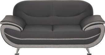 DVOUMÍSTNÁ POHOVKA - šedá/černá, Design, kov/textil (175/85/87cm) - TI`ME