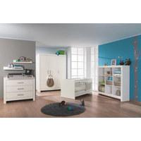 KOMMODE Weiß - Silberfarben/Weiß, Trend, Metall (110/91,9/55,3cm) - Paidi
