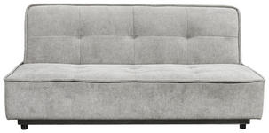 SCHLAFSOFA in Textil, Holzwerkstoff Schlammfarben  - Schlammfarben/Schwarz, MODERN, Holzwerkstoff/Kunststoff (206/95/95cm) - Carryhome
