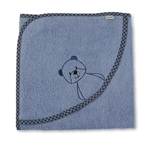 KAPUZENBADETUCH - Blau, Basics, Textil (100/100/0,5cm) - Sterntaler