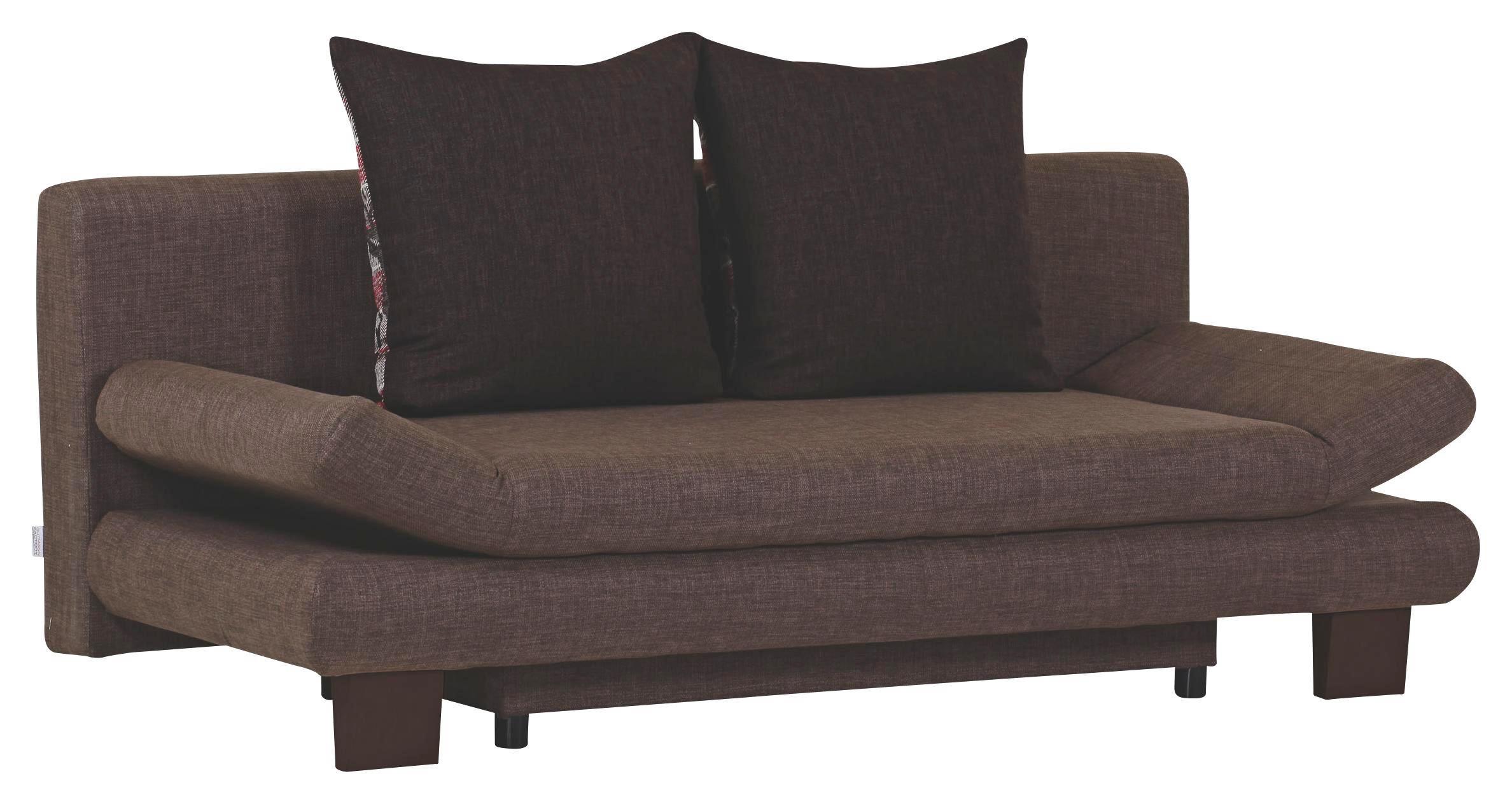 SCHLAFSOFA in Braun Textil - Braun, KONVENTIONELL, Holz/Textil (194/73/91cm) - VENDA