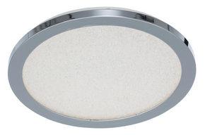 LED-TAKLAMPA - kromfärg, Basics, metall/plast (30/3cm) - Novel
