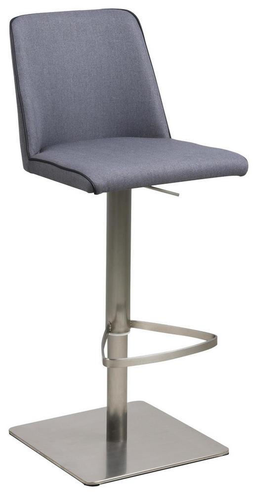 BARHOCKER Webstoff Dunkelgrau - Dunkelgrau/Schwarz, Design, Textil/Metall (43/107,5/51cm) - Carryhome