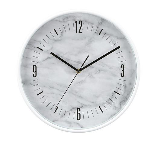 WANDUHR 37 cm - Weiß, Trend, Kunststoff (37cm) - Boxxx