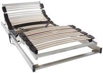 ELEKTRISCHER LATTENROST 90/200 cm  - Hellgrau/Weiß, Basics, Holz (90/200cm) - Dieter Knoll