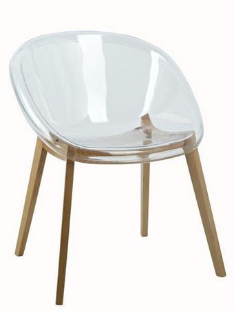 STOLICA - prozirno, Moderno, drvo/plastika (59/74/57,5cm) - AMBIA HOME