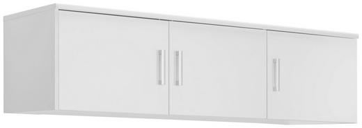 AUFSATZSCHRANK - Silberfarben/Weiß, KONVENTIONELL, Holzwerkstoff/Kunststoff (157/43/54cm) - Xora