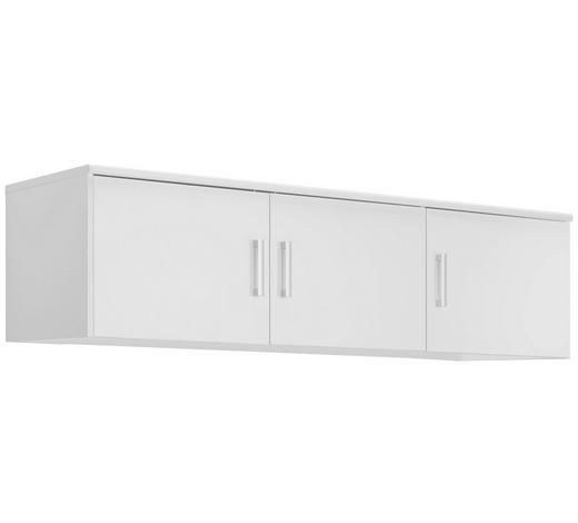 AUFSATZSCHRANK - Silberfarben/Weiß, KONVENTIONELL, Holzwerkstoff/Metall (157/43/54cm) - Xora
