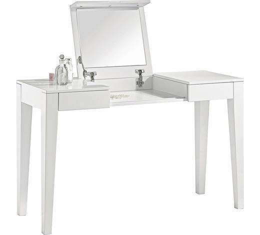 SCHMINKTISCH Weiß  - Weiß, Design, Holzwerkstoff (125/120/45cm) - Xora