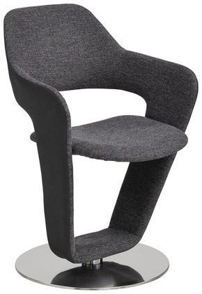 STOL - grå/rostfritt stål-färgad, Design, metall/textil (62/90/62cm) - Novel