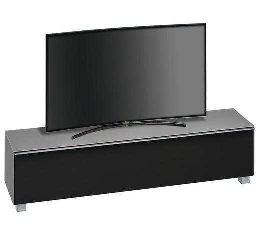 TV-ELEMENT Schwarz, Hellgrau - Hellgrau/Schwarz, Design, Glas/Kunststoff (180/43,3/42cm)