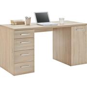 RAČUNALNIŠKA MIZA leseni material hrast  - hrast, Basics, umetna masa/leseni material (139/74/60cm) - Xora