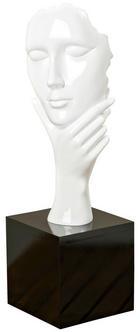 PLASTIKA - bílá/tmavě hnědá, Design, umělá hmota (18/18/61cm)