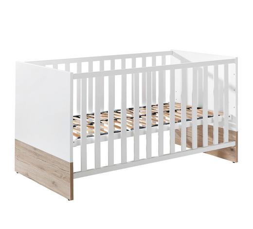 POSTÝLKA DĚTSKÁ - bílá/barvy dubu, Konvenční, kompozitní dřevo (143,4/76,6/78,9cm) - Paidi