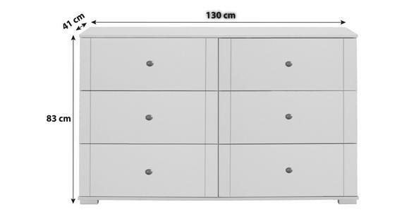 KOMMODE 130/83/41 cm  - Eichefarben/Schwarz, KONVENTIONELL, Holzwerkstoff/Kunststoff (130/83/41cm) - Cantus