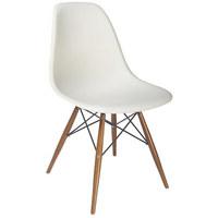 STOL, kovina, les, umetna masa bela - bela, Design, kovina/umetna masa (54/81/47cm) - Ambia Home