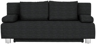 SCHLAFSOFA in Textil Anthrazit - Chromfarben/Anthrazit, Design, Textil/Metall (197/88/89cm) - Xora