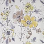VORHANGSTOFF per lfm blickdicht - Gelb/Grau, KONVENTIONELL, Textil (148cm) - Esposa