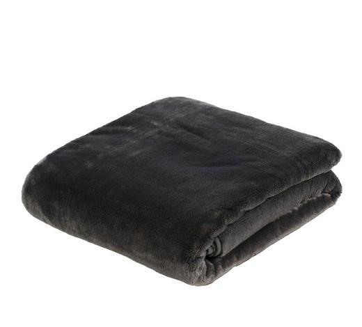 WOHNDECKE 180/220 cm Anthrazit  - Anthrazit, Textil (180/220cm) - Novel