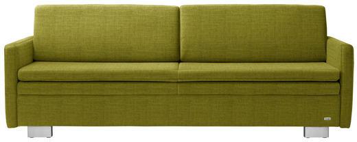 SCHLAFSOFA in Textil Grün - Grün, KONVENTIONELL, Textil/Metall (216/84/92cm) - Sedda
