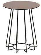 BEISTELLTISCH in Bronzefarben, Schwarz - Schwarz/Bronzefarben, Trend, Glas/Metall (40/50/40cm) - Ambia Home