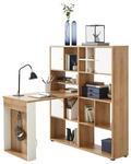 MINI-OFFICE - Eichefarben/Weiß, KONVENTIONELL, Holzwerkstoff (127,2/145,1/114,2cm) - Voleo
